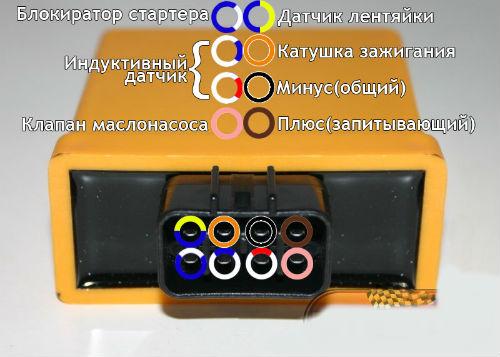Схема подключения коммутатора Yamaha 8 контактов