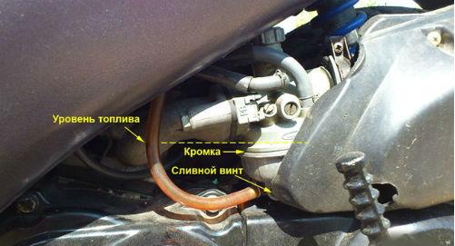 Уровень топлива в карбюраторе Honda DIO TACT
